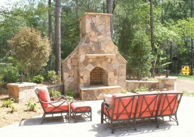 Backyard Fireplace 2